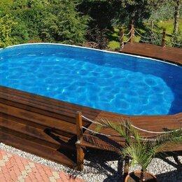 Бассейны - Каркасный бассейн ЛАГУНА 5 х 2,5 х 1,25 м овальный , 0