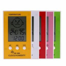 Метеостанции, термометры, барометры - Термометр-гигрометр электронный CX-201 10*6см 1/сто, 0