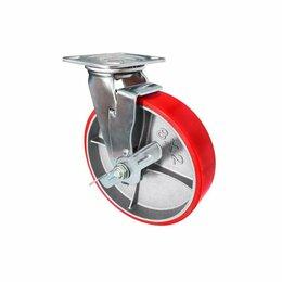 Оборудование для транспортировки - Колесо большегрузное полиуретановое поворотное с тормозом ф 100, 125, 150, 200, 0