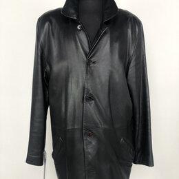 Куртки - Мужская удлиненная куртка из натуральной кожи р.50-52 /10947/, 0