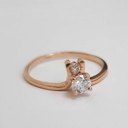 Кольца и перстни - Золотое кольцо СССР с горным хрусталем , 0