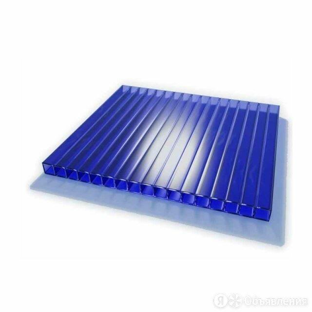 Поликарбонат сотовый 4х2100х6000 синий по цене 3150₽ - Поликарбонат, фото 0