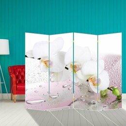 """Ширмы - Ширма """"Орхидея и капли воды"""", 200 × 160 см, 0"""