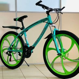 Велосипеды - Велосипед новый зеленый, 0