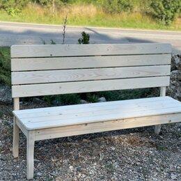 Скамейки - Деревянная скамейка, 0