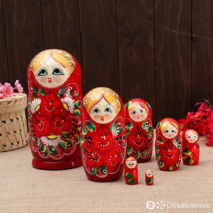 """Матрёшка 7-ми кукольная """"Кира""""  , 23-25см, ручная роспись. по цене 1618₽ - Статуэтки и фигурки, фото 0"""