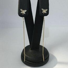 Серьги - Серьги золото с бриллиантами , 0