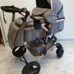 Коляски - Luxmom530 grey&gold коляска трансформер 2в1 серая, 0