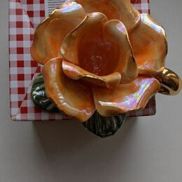 Подсвечники - Подсвечник роза керамика, 0