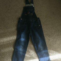 Полукомбинезоны и брюки - Джинсовый полукомбинезон на мальчика, 0