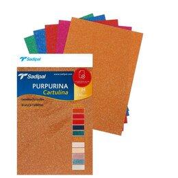 Расходные материалы для брошюровщиков - Картон дизайнерский набор, 210 х 297 мм, Sadipal Glitter (с блестками) Deep, ..., 0