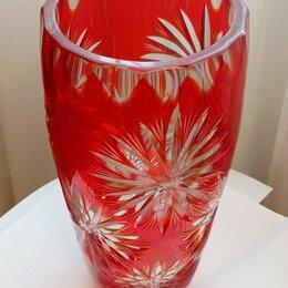 Вазы - ваза астры красное рубиновое стекло, 0