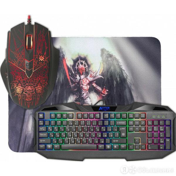 Игровой набор Defender Anger MKP-019, мышь + клавиатура+коврик Defender 52019  по цене 1130₽ - Клавиатуры, фото 0