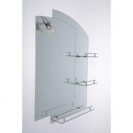 Зеркала - Зеркало в ванную комнату, двухслойное Ассоona, 80×60 см, A613, 3 полки, 0