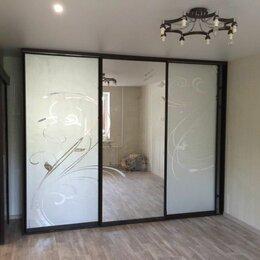 Шкафы, стенки, гарнитуры - Шкаф купе фасады стекло пескоструй, 0