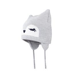 Головные уборы - Зимняя детская шапка Satila Ravy с глазками (серая), 0