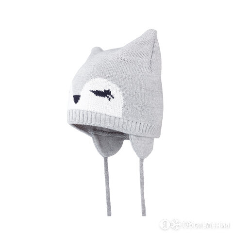 Зимняя детская шапка Satila Ravy с глазками (серая) по цене 699₽ - Головные уборы, фото 0
