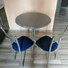 Столы и столики - Круглый обеденный стол и  стулья комплект, 0