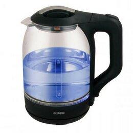 Электрочайники и термопоты - Чайник электрический Gelberk GL-403 стекло, 0