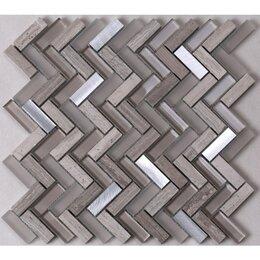 Мозаика - Мозаика Tessare 29,5х32,1х0,8см стекло микс зеркало-серебрянный шт(HSD200), 0
