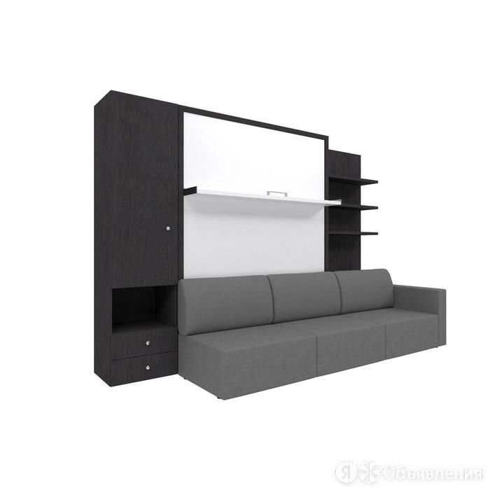 Комплект-трансформер со шкафом и полками  Ника Кровать 1600х2000 + диван серы... по цене 125074₽ - Кровати, фото 0