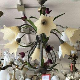 Люстры и потолочные светильники - Люстра ковка флористика подвесная, 0