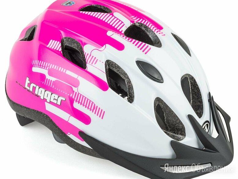 Велошлем подростковый с сеточкой Trigger Pnk INMOLD AUTHOR, бело-розовый (Разм по цене 2610₽ - Защита и экипировка, фото 0