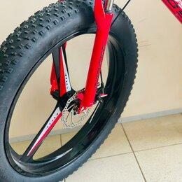 Велосипеды - Велосипед фэт-байк на литых дисках , 0