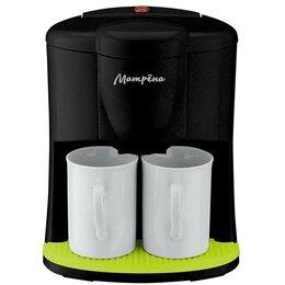 Кофеварки и кофемашины - Кофеварка Матрена МА-017, 450Вт, 2 чашки, черная 5586, 0
