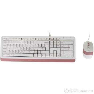 Клавиатура A4Tech A4Tech Fstyler F1010 White-Pink по цене 1236₽ - Клавиатуры, фото 0