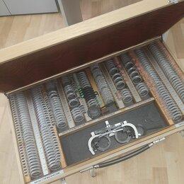 Оборудование и мебель для медучреждений - Набор оптических стекол (пробные очковые линзы) в футляре, 0