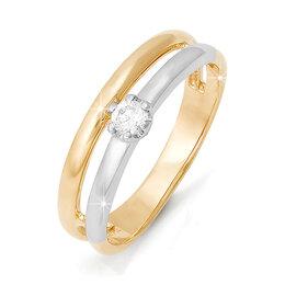 Кольца и перстни - БР110241 Кольцо (Au 585) (17.0) Дельта, 0