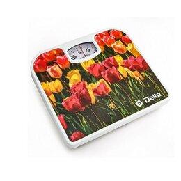 Весы - Весы DELTA D-9407 Тюльпаны, 130кг рисуунок, 0