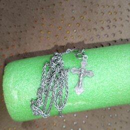 Цепи - Серебряная цепочка с крестиком, 0