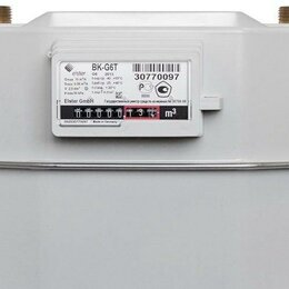 Элементы систем отопления - Счётчик газа Вк-G 6 Т левый 25 см Elster, новый, 0