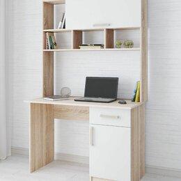 Компьютерные и письменные столы - Компьютерный стол квартет- 10  дуб сонома текс, 0