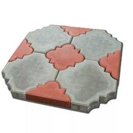 Тротуарная плитка, бордюр - Брусчатка «Краковский клевер» цветная, 0