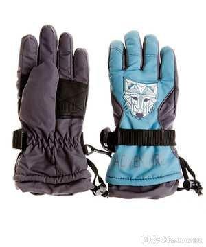 "Перчатки арт G-19 ""Волк"" синий (6-8 лет) по цене 710₽ - Перчатки и варежки, фото 0"