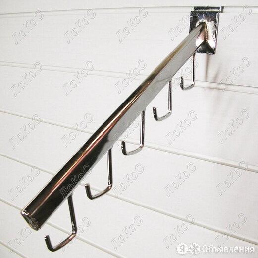 Кронштейн наклонный с 5-ю крючками на экономпанель, хром, F112c по цене 185₽ - Расходные материалы, фото 0