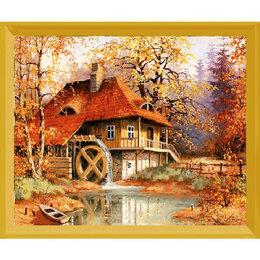 Рисование - Осенний пейзаж с водяной мельницей Артикул : L 511, 0