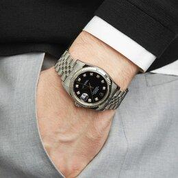 Наручные часы - Rolex Datejust 36mm White Rolesor 116234 Black diamonds Jubilee Bracelet, 0