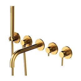 Краны для воды - Встраиваемый смеситель для ванны Omnires Y Y1237/1GLB (брашированное золото), 0