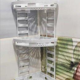 Полки, шкафчики, этажерки - Угловая трехъярусная полка для ванной комнаты М6848, 0