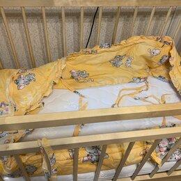 Кроватки - Детская кроватка с матрасом. бортиками, 2мя подушками, 0