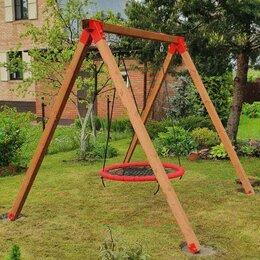 Качели - Качели гнездо деревянные, 0