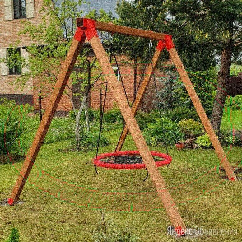 Качели гнездо деревянные по цене 28750₽ - Качели, фото 0