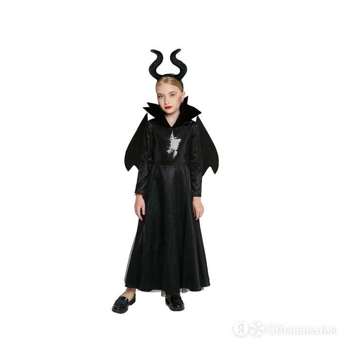 Карнавальный костюм «Малефисента», платье, крылья, рога, р.32, рост 128 см по цене 4281₽ - Карнавальные и театральные костюмы, фото 0