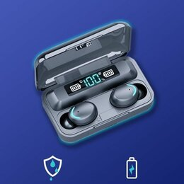 Наушники и Bluetooth-гарнитуры - Наушники беспроводные с повербанком, 0