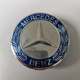 Шины, диски и комплектующие - Колпачок для диска Mercedes - benz 75mm Blue, 01345, 0