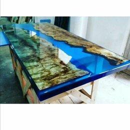 Столы и столики - Стол река из эпоксидной смолы и премиальных пород древесины., 0